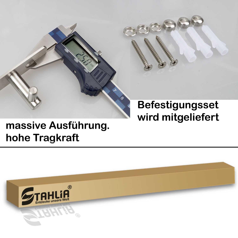 Hakenleiste EDELSTAHL Kleiderhaken Garderobenhaken Wandhaken 4 //6//8//10 Haken V2A