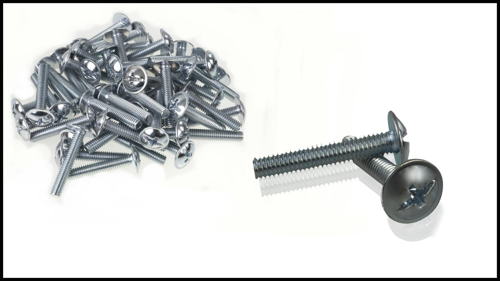 12 Möbelschrauben 4 X 30 mm Möbelgriffschraube Schrauben Griffschrauben M4  NEU