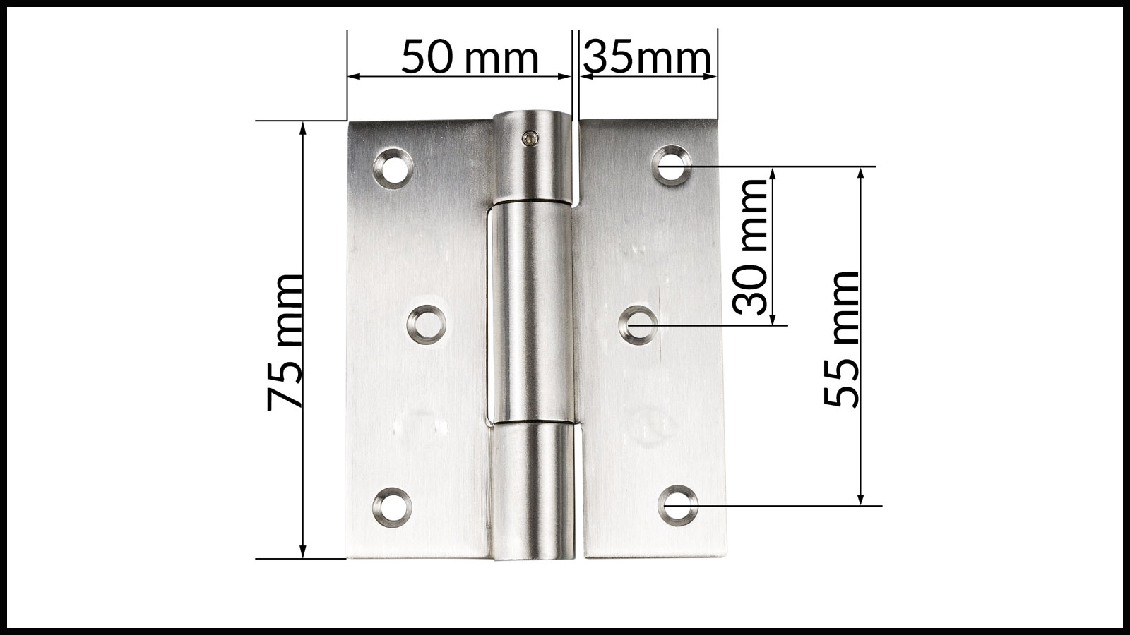2 acier inoxydable 125 mm Türband CHARNIERE Charnière en Acier inoxydable charnière saisir